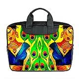 Benutzerdefinierte 15 Zoll importiert Nylon wasserdicht Stoff Laptop tragbare Schulter Messenger Bag Diy Pfau Design