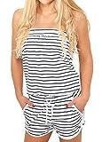 Urban Classics Damen Jumpsuit kurz white/navy XS