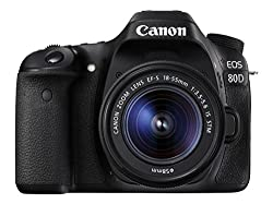 Canon EOS 80D 24.2MP Digital SLR Camera (Black) with 18-55mm IS STM Lens and 8GB Card