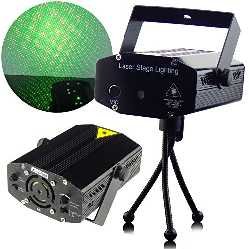 XpressBuyer New Rotating Stage lighting Projector RGB LED 3D Colourful Effect Auto Mode Stage Light for DJ Dance Home Party Disco Clubbing.