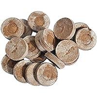 GLOBEAGLE 30 mm Jiffy Peat Pellets Seed Starting Plugs Pallet Seedling Soil Block PoE, 10 Pieces