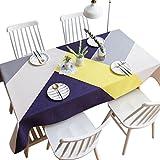 AMCER Rechteckige Polyester Kontrast Große Dreieck Tischdecke Couchtisch Tuch Geometrische Muster Arbeitsplatte Stoff Dekoration