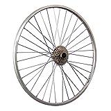 Taylor-Wheels 28 Zoll Hinterrad YAK19 mit 8 Fach Kassette - Silber