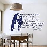 Wandtattoo / Wandaufkleber mit Motiv Bob Marley für Schlafzimmer, Wohnzimmer, mittelgroß