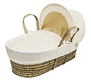 Kinder Valley Palm Moses Basket, Cream Dimple
