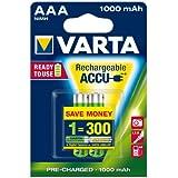 Varta ReadyToUse - Pack de 2 pilas recargables, NiMH, AAA, 1000 mAh