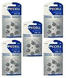PKCELL 30 x A312 / PR41 Hörgeräte-Batterie Quecksilberfrei (5 Blistercard = 30 Batterien) FBA
