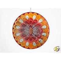 Spin Art Premium Mandala sol Multi Color Wind Spinner (30,5cm)