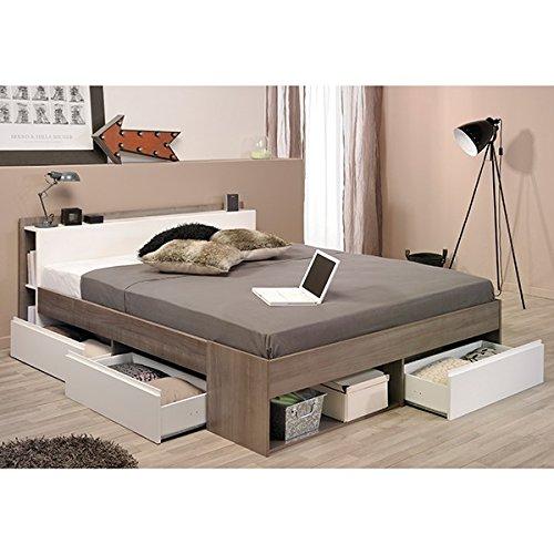 Funktionsbett 140*200 cm grau / weiß inkl 3 Roll-Bettkästen Kinderbett Jugendbett Jugendliege Bettliege Bett Jugendzimmer Kinderzimmer thumbnail