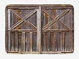 HaiYI-ltd rustikale Badvorleger, altes Holz, Scheunentür des Bauernhauses Eiche Landhaus Landhaus Landhaus Landhaus Foto-Druck, Plüsch Badezimmer Decor Matte mit rutschfester Unterseite, 59,9 x 39,9 cm, Braun