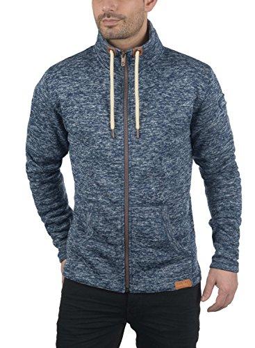 !Solid Luki Herren Fleecejacke Sweatjacke Jacke mit Stehkragen und Melierung, Größe:S, Farbe:Insignia Blue Melange (8991) - 2