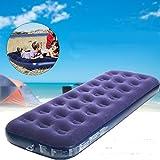 LaDicha Outdoor Camping Portable Air Mat Aufblasbare Beflockte Matratze Bett - S