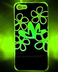 999® COQUE IPHONE 5 LED ETUI HOUSSE BUMPER TPU FLASH LED ETOILE + FILM -voyant clignote couvercle du boîtier-FLEUR