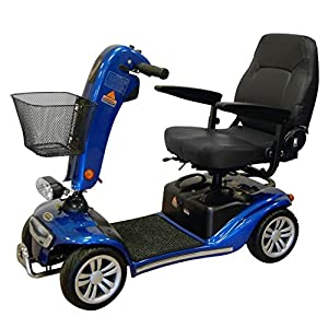 Roma (Shoprider) New! Valencia Travel Mobility Scooter w/ Pneumatic Tyres - Blue