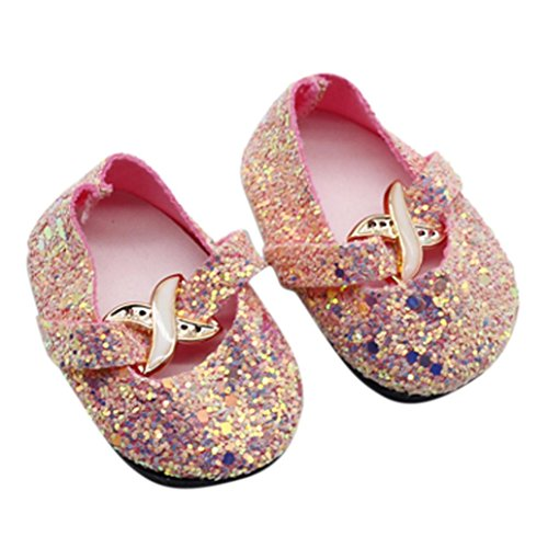 18 inch Our Generation American Girl Doll Accessory,DIKEWANG DIY Shiny Glitter Doll Shoes For 18 Inch Our Generation American Girl Doll,Help Children Develop Good Habit of Self-reliance