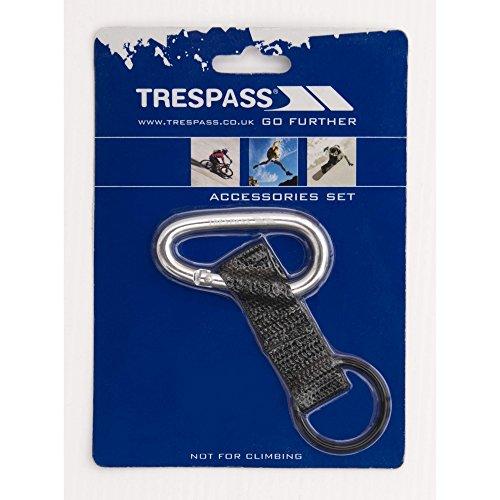 Trespass Navigate 6mm Karabinerhaken mit Riemen und Gummi-Ring (Einheitsgröße) (Silber)