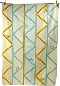 Fussenegger Baumwolldecke blau/grün Größe 100x140 cm