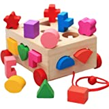 Intelligence Box for Shape Sorter Cognitive and Matching Wooden Building Blocks Baby Kids Children Eductional Toys