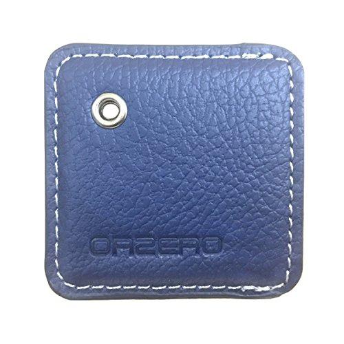 Orzero Ledertasche für Fliese Mate / Tile Style (alte Version) (nicht austauschbare Batterieversion) Finder mit Schlüsselbund / Schlüsselring von Scratch Wet Dirty (Blau) (Fliesen-key Tracker)