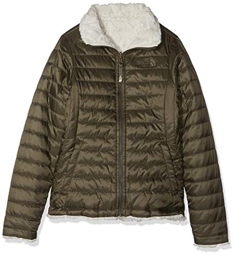 THE NORTH FACE Mädchen Reversible Mossbud Swirl Jacke, New Taupe Green, S -