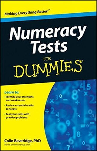 Numeracy Tests For Dummies by Colin Beveridge (2012-05-14)