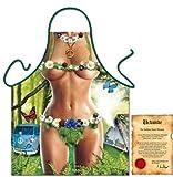bedruckte Fun Grillschürze - sexy Motiv: Hippie Girl - Spaß Grillschürze Kochschürze Weihnachten Advent Nikolaus
