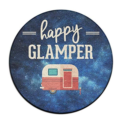 Happy Glamper - Glamping Camping Doormat Entrance Mat Floor Mat Rug Indoor/Outdoor/Front Door Mats Non Slip
