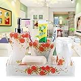 Resina moderno cinque pezzi adatti per matrimoni in stile occidentale bagno idee-bagno colluttorio gargarismi kit lavaggio Cup,C