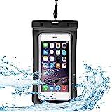 donwell schwimmfähig Wasserdicht Fall, Universal Dry Bag Handytasche für Samsung S9Plus/S9/S8Plus/S8/S7Edge/S7, iPhone X/8Plus/7Plus/6S Plus/8/7/6S/6/SE, Huawei P20Pro/P20/Mate 10, und mehr, Schwarz