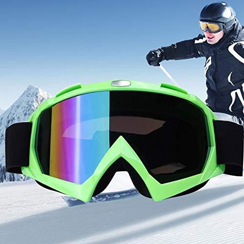 Duhongmei123 Mode Brillen H013 Unisex Wide View Anti-Fog Windschutz UV-Schutz Sphärische Brille mit verstellbarem Gurt Occhiali (Farbe : Grün)