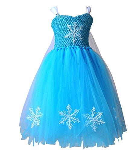 Beunique® Kostüm Kinder Schneeflocken Kleid Mädchen Weihnachten Verkleidung Karneval Party Halloween (Frau Tutu Wunder)