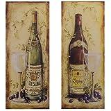 Luxus Pur UG Bilder Set 2 Blechschilder Riesling Bordeaux Weinflaschen Vintage Retro Wanddeko
