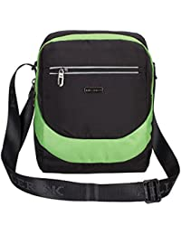[Sponsored]Killer BRISBANE Stylish Travel Sling Bag - Black-Green Water Resistance Polyester Bag With Multiple Pockets And...