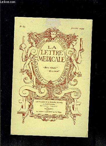 LE LETTRE MEDICALE- N° 65 - jan 1934- Les curiosités de la Médecine Chinoise et l'acupuncture- Informations- Un nouveau traitement de la grippe