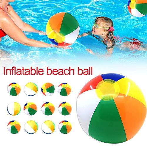 kaersishop 12 STÜCKE 30 cm Aufblasbare Panel Wasserball Wasser Pool Party Spielzeug Bunte Outdoor Wassersport Spaß Pool Schwimmen Spiel Ball für Kinder Erwachsene