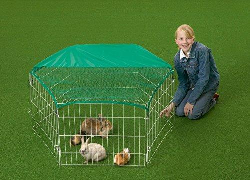 recinto-rete-in-metallo-per-animali-cani-gatti-conigli-roditori-cuccioli-con-retina-parasole-145-x-1