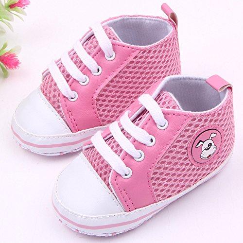 Bigood Liebe Baby Masche Schuhband Baby Schuh Fussball Muster Lauflernschuhe Pink