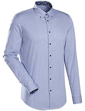 JACQUES BRITT Business Hemd Slim Fit 1/1-Arm Bügelleicht Streifen City-Hemd Button-Down-Kragen Manschette weitenverstellbar