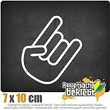 Heavy Hand 10 x 7 cm In 15 Farben - Neon + Chrom!JDM Sticker Aufkleber