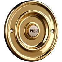 Polished Brass 76mm Dia Bell Push with China Press preiswert