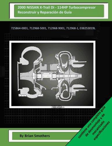 2000 NISSAN X-Trail Di - 114HP Turbocompresor Reconstruir y Reparación de Guía: 725864-0001, 712968-5001, 712968-9001, 712968-1, 038253019L