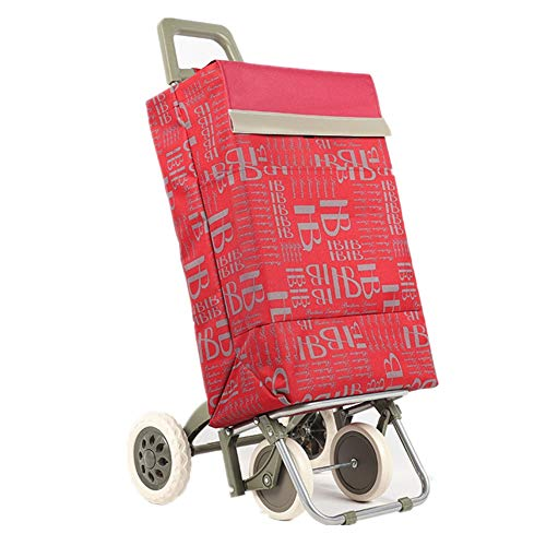 Gwllr carrello portaspesa pieghevole della spesa ampia capacità multifunzione carrello a mano con ruote zaino rimovibile
