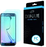 Crocfol Displayschutz für Samsung Galaxy S6 Edge: 2x DIEFOLIE Schutzfolie, 1x DASFLÜSSIGGLAS flüssiges Glas - Fullcover Folie