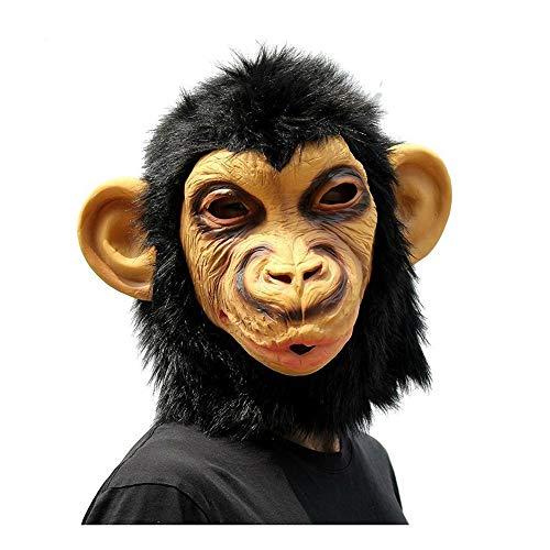 SCLMJ Schimpanse AFFE Kopf Form Maske Erwachsene Vollgesichts -