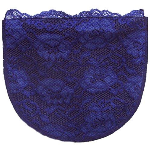 Marineblau Modesty Panel Weiches Poly mit Volle Lace ChemisettenvonAnne Größen Sz D/xl (Camisole Poly)