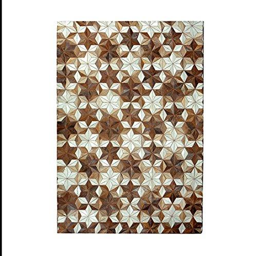 YMXLQQ Teppiche gehobenen Hand genäht Wohnzimmer Kissen Nachttisch rechteckigen Teppich Leder Teppich (Hand Genäht Slip Leder)