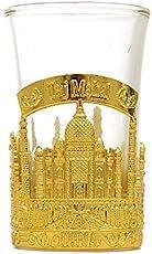Souvenir Taj Mahal India Shot Glass,Perfect souvenir for home,gifts and travel (gold color)