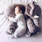 WYQLZ Cartone animato carino elefante multifunzionale cuscino ufficio tenere cuscino creativo fumetto moda cuscino posteriore pad 60 cm