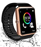 Montre Connectée, Smartwatch Android Bluetooth Smart Watch Etanche Montre Intelligente avec Caméra Facebook Whatsapp Montre Téléphone Sports Bracelet Wrist Watch pour Femmes Homme