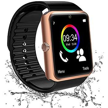 Montre Connectée, Smartwatch Android Bluetooth Smart Watch Etanche Montre Intelligente avec Caméra Facebook Whatsapp Montre